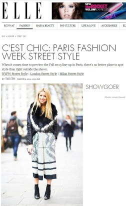 All You Need Is Style Paris Fashion Week Elle